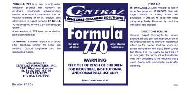 Formula 770